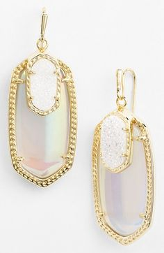 Gorgeous drusy drop earrings http://rstyle.me/n/vvujdnyg6