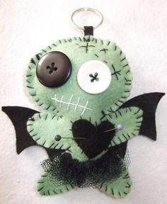 Felt Voodoo Doll Keyring / Handbag Charm
