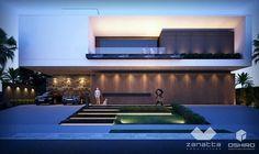 Residência no Condomínio Alphaville - Dourados/MS. Projeto: Zanatta e Oshiro