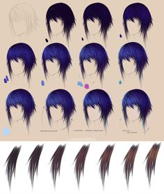Purple hair. Step by step   brown by FeliceMelancholie on deviantART via PinCG.com