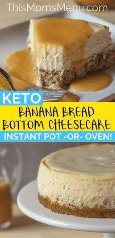 Valerie Hill saved to won't believe that this Instant pot Banana Bread Bottom Cheesecake is low carb or how easy it is to make using your instant pot! Easy Keto Diet Friendly Casserole…More 6 Guilt Free Low Carb Dessert Recipes Healthy Low Carb Recipes, Low Carb Desserts, Low Carb Keto, Keto Recipes, Bread Recipes, Banana Recipes Low Carb, Keto Fat, Easy Desserts, Keto Banana Bread