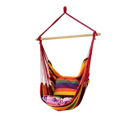 Amazon.com : CCTRO Hanging Rope Hammock Chair Swing Seat, Large Brazilian Hammock Net Chair Porch Chair for Yard, Bedroom, Patio, Porch, Indoor, Outdoor - 2 Seat Cushions Included : Patio, Lawn & Garden