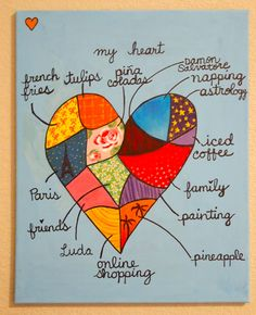 my heart- a great open-ended project.  A snapshot of a child's life.