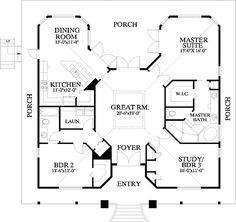 I have never pinned a floor plan before, but this one is my dream home! LOVE, LOVE, LOVE!!!