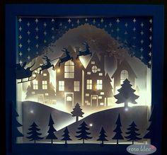 Weihnachtliche Leuchtrahmen