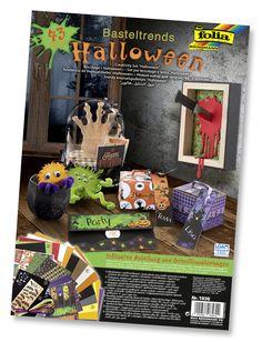 Das Komplettset Halloween besteht aus vielen hochwertigen Materialien sowie verständlichen Bastelanleitungen für tolle Deko-Ideen! Mehr unter http://www.folia.de/epaper/folia_neuheitenkatalog_2016/catalog_5920639/#/8