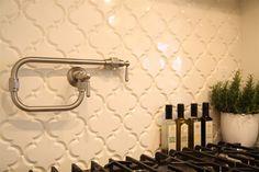 Backsplash Tile-Beveled Arabesque Glazed Ceramic Wall Tile -- Around $23 SF -- Sold Online by Mission Stone Tile
