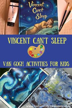 Teach kids about Vincent Van Gogh with this colorful new children's book and fun Van Gogh themed art projects! #sponsored #artforkids #vangoghforkids #vangoghbooks
