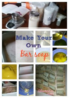 Skip the questionable chemicals in store bought soap, save money and learn to make your own bar soap from scratch! The Homesteading Hippy Make Your Own, Make It Yourself, How To Make, Fru Fru, Cleaners Homemade, Homemade Gifts, Homemade Bar, Homemade Beauty Products, Soap Recipes