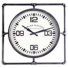 17 Stories Square Metal Wall Clock