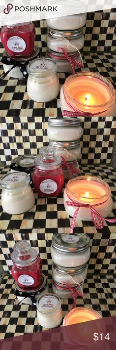 Hand made Soy Candles 4 oz. Soy Candles, Cinnamon, Holly Berry, Fresh Linen,  Christmas Cheer, Eucalyptus, White Ginger, Silver Fur Soy Candles Other