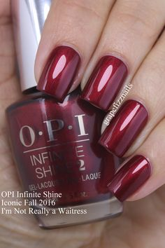 Grape Fizz Nails: OPI Infinite Shine Iconic Shades for Fall 2016 Fancy Nails, Cute Nails, Pretty Nails, Fabulous Nails, Gorgeous Nails, Perfect Nails, Essie, Opi Nail Colors, Opi Nails