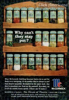 McCormick-Schilling spice racks (1964)
