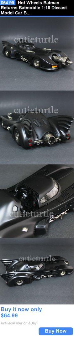 Toys And Games: Hot Wheels Batman Returns Batmobile 1:18 Diecast Model Car Black Cmc96 BUY IT NOW ONLY: $64.99