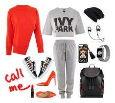 """""""Sporty Chic...."""" by tamikaturquoise ❤ liked on Polyvore featuring Ivy Park, Marco Barbabella, Christian Louboutin and Halogen"""