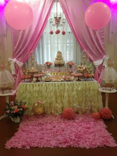 Little Princess Birthday Party dessert table!  See more party ideas at CatchMyParty.com!