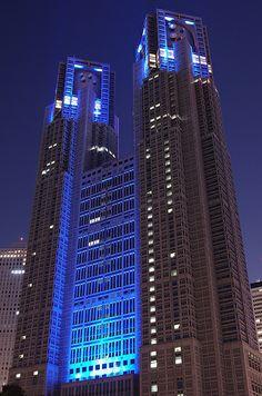 東京都庁舎 世界糖尿病デー・ブルーライトアップ 2013 Tokyo Metropolitan Government Buildings