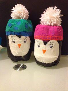 Pingouins en bouteille /revisite de l'idée originale http://fishounettebricole.blogspot.fr/2015/01/pinguin-bouteille.html