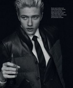 LUCKY BLUE SMITH SUITS UP for ESQUIRE BIG BLACK BOOK EDITORIAL