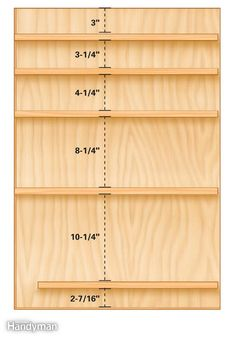 Make a mix of shallow and deep drawers for the tool storage cabinets. Get the plans for the Ultimate Tool Storage Cabinets: http://www.familyhandyman.com/tools/storage/ultimate-tool-storage-cabinets/view-all