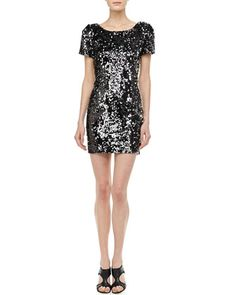 Sequined Scoop-Back Cocktail Dress by Milly at Neiman Marcus. Love !!!!