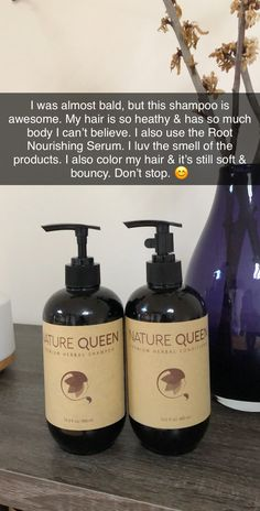 I was almost bald, but this shampoo is awesome. My hair is so healthy & has so much body I can't believe. I also use the Root Nourishing Serum. I luv the smell of the products. I also color my hair & it's still soft & bouncy. Natural Hair Tips, Natural Hair Growth, Natural Hair Styles, Hair Growth Tips, Hair Care Tips, Diy Hair Care, Curly Hair Care, Curly Hair Styles, Spa