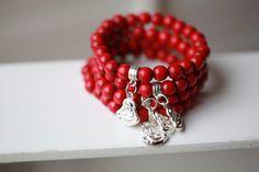 Buddha Bracelet  Buddha Beaded Bracelet Buddha Charm by Bijjou, $10.00