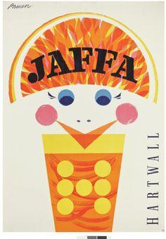 Erik Bruuns Jaffa poster in the Builders of the Future exhibition. © Rauno Träskelin. Helsinki. Finland.
