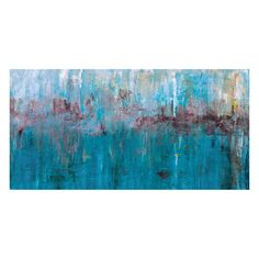 John Beard Collection Blue Green 14x30 Giclee Print Canvas Art at ATG Stores
