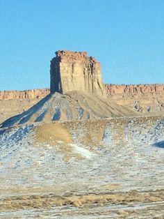 Snowy alpine desert