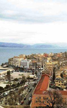 TheTown of Kerkyra, Corfu Island (Ionian),Hellas Corfu Town, Places In Greece, Corfu Island, Corfu Greece, Local Tour, Cruise Destinations, Greece Islands, Thessaloniki, Greece Travel
