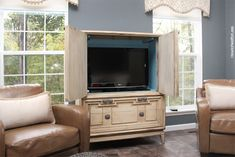 Armoire Turned Tv Cabinet