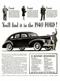 1940 Ford Advertisement.