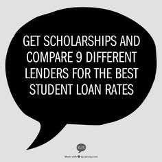 this would be really helpful if having a hard time deciding on lenders for loans and very helpful to get those scholarships
