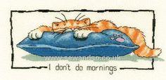 Buy I Don't Do Mornings Cross Stitch Kit Online at www.sewandso.co.uk