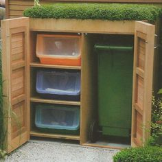 garden storage with green roof, garden's illustrated magazine
