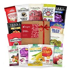 Gluten Free Snack Gift Box Healthy Premium Variety Bundle Care Package 15 Count * Click image for more details.