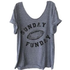 Plus Size Women Casual Short Sleeve T-Shirt Sunday Funday Football Print  O-Neck Female T-Shirt Gray Loose Ladies Tops Tee 5XL 8a72e8885b2b