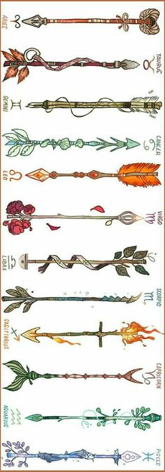 This is kind of neat. Arrows designed for signs of the zodiac. This is kind of neat. Arrows designed for signs of the zodiac. Neue Tattoos, Body Art Tattoos, Shell Tattoos, Piercings, Arrow Tattoos, Tatoos, Arrow Tattoo Back, Tattoo Und Piercing, Geniale Tattoos