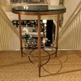 http://www.luxehomephiladelphia.com/collections/design-institute-of-america-furniture/products/kingston-accent-table-design-institute-of-america-1 The Kingston Accent Table is a sophisticated piece that is sure to add charm to any home. Featuring a clear glass top with beveled edge, the Kingston Accent Table is made from bronze plated steel giving it a chic appearance. Available in other plated finish options, this unique accent table is one of many offered at Luxe Home Philadelphia.