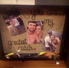 DIY shadow box of your favorite moments together and favorite past times! I love this anniversary idea and it makes for unique wall decoration!