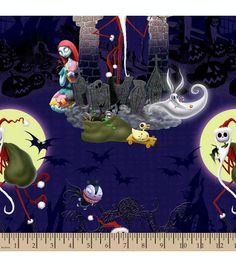 Inspirations christmas fabric nightmare before christmas santa jack