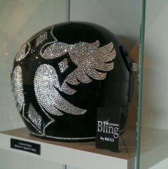 Bling your Motorcycle Helmet to match your ride. We use Genuine Swarovski Crystals for the best sparkle and shine. Create your own design for your helmet or let us do it for you. Sparkle up your day with Custom Bling by Ricci. Stunning white & jet black Genuine Swarovski Crystal