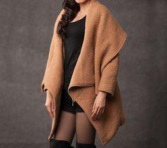 winter jackets for women brown wool coat. $108.00, via Etsy.