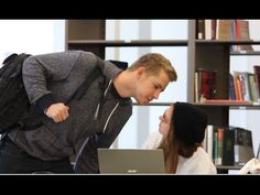 Andrew Hales tries to kiss girls at the library. It just gets really awkward and funny. Girl Pranks, School Pranks, Funniest Pranks, Funny Pranks, Best Prank Videos, Kissing Pranks, Hidden Camera, Awkward, Card Games