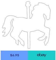 Wood Carousel Horse Shape Unfinished Shape Wooden Horse Cutout Paintable Boys First Birthday Cake, Carousel Birthday Parties, Carousel Party, Circus Birthday, Unicorn Birthday Parties, Circus Crafts, Fun Crafts, Carrousel, Horse Template