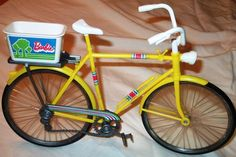 VINTAGE 1970'S BARBIE MATTELL BIKE WITH BASKET - I use to have one of these!