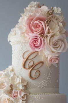 Bespoke Wedding Cakes for Cheshire, Manchester & Lancashire - The Frostery Wedding Cake Icing, Floral Wedding Cakes, White Wedding Cakes, Lace Wedding, Luxury Wedding Cake Design, Wedding Cake Designs, English Wedding Cakes, Manchester Lancashire, Button Cake