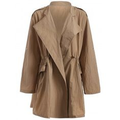SHARE & Get it FREE | Plus Size Drawstring Trench Coat with PocketFor Fashion Lovers only:80,000+ Items·FREE SHIPPING Join Dresslily: Get YOUR $50 NOW!