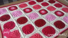 crochet pattern twirling circle afghan crochet von Crochets4U